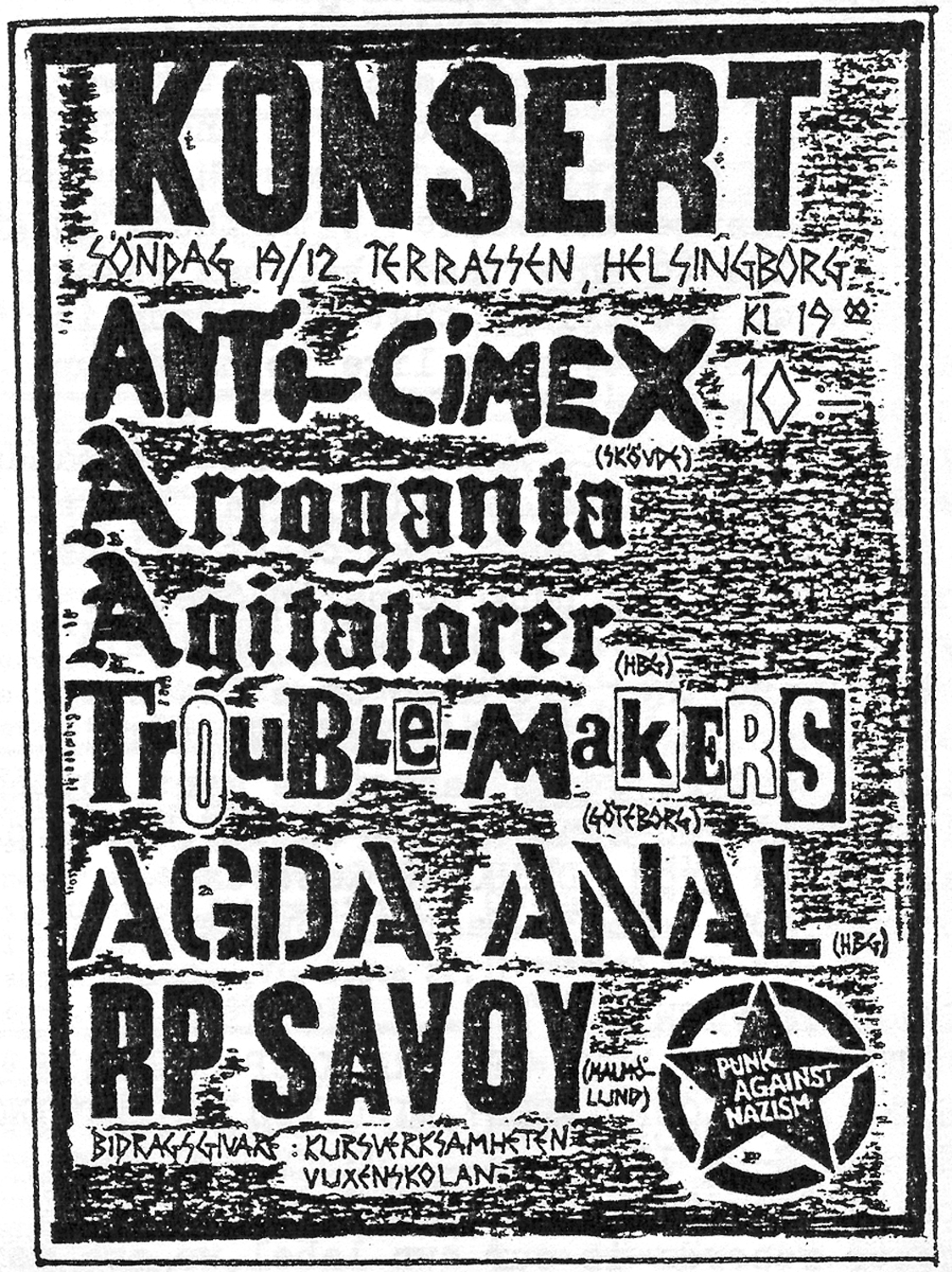 Anti-Cimex + Arroganta Agitatorer flyer